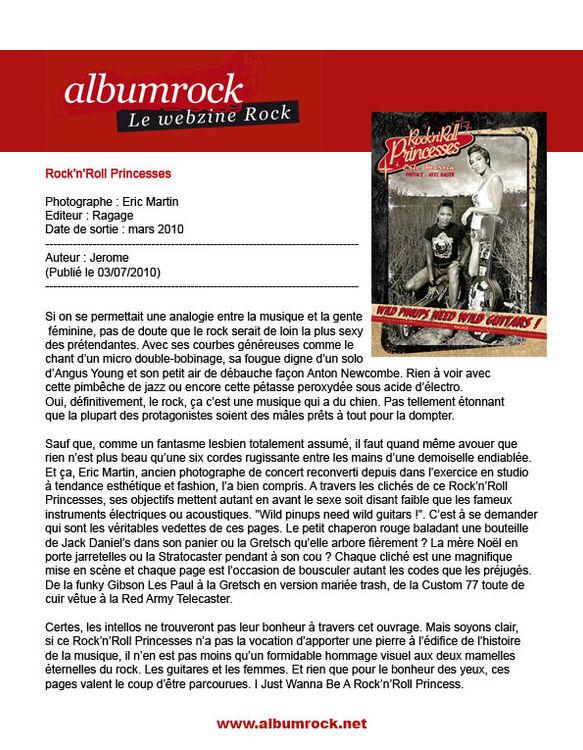 chronique webzine Albumrock 2010