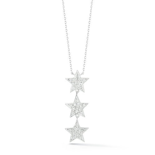 3 Star Diamond Necklace