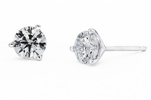 Prong Set Martini Diamond Stud Earrings