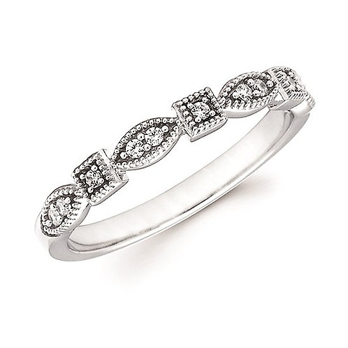 Teardrop & Square Diamond Stackable Band