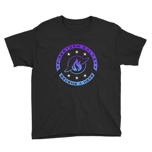 Firestorm Galaxy Logo Crest Youth Short Sleeve T-Shirt