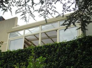 veranda toiture coulissante vue extérieure