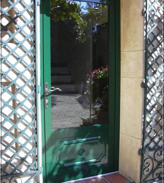 porte d'entree aluminium verte