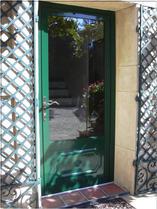 porte aluminium verte aluvaison