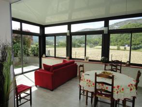 veranda sur mesure aluvaison vue intérieur