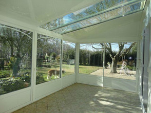 veranda toiture mixte vue toit