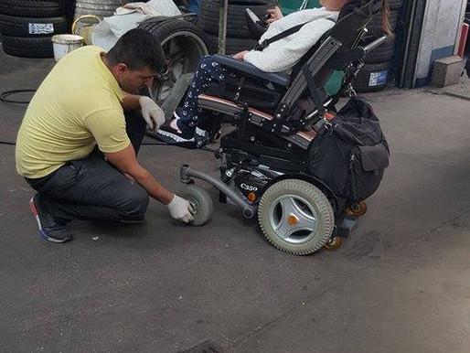 Rollstuhlpanne was tun?