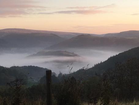 Llangollen in the mist