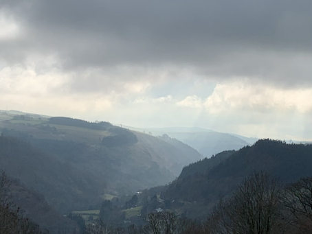 Heavenly views up the valley