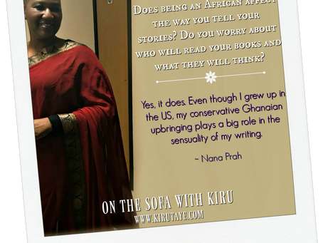 She adores chocolate and puppies. Nana Prah is #OnTheSofa! #AuthorChat @NanaPrah