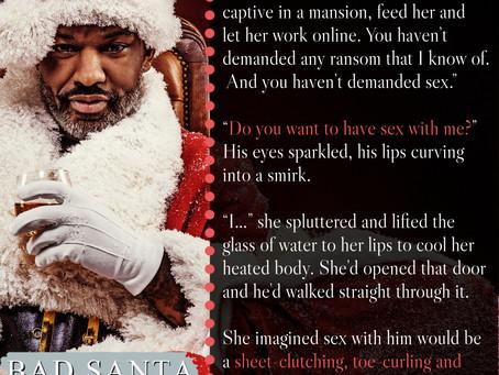 TEASER TUESDAY: Bad Santa #RomanticSuspense #comingsoon