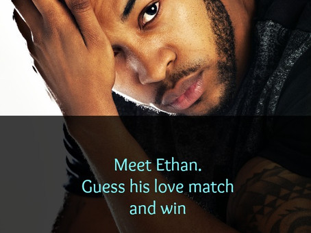 Meet Ethan. Guess his love match and win #giveaway #amwriting