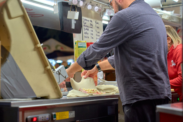 Street food calzone pizza fotografo eventi novara