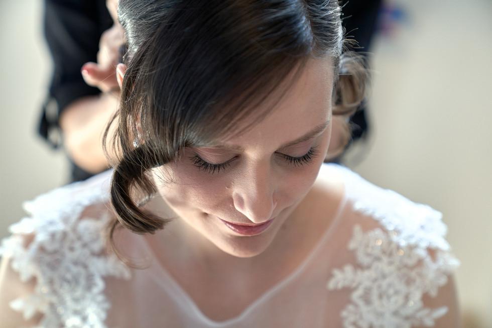 Preparativi della sposa, ritratto, fotografo matrimonio Novara