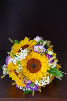 bouquet girasole, fotografo matrimonio Novara,