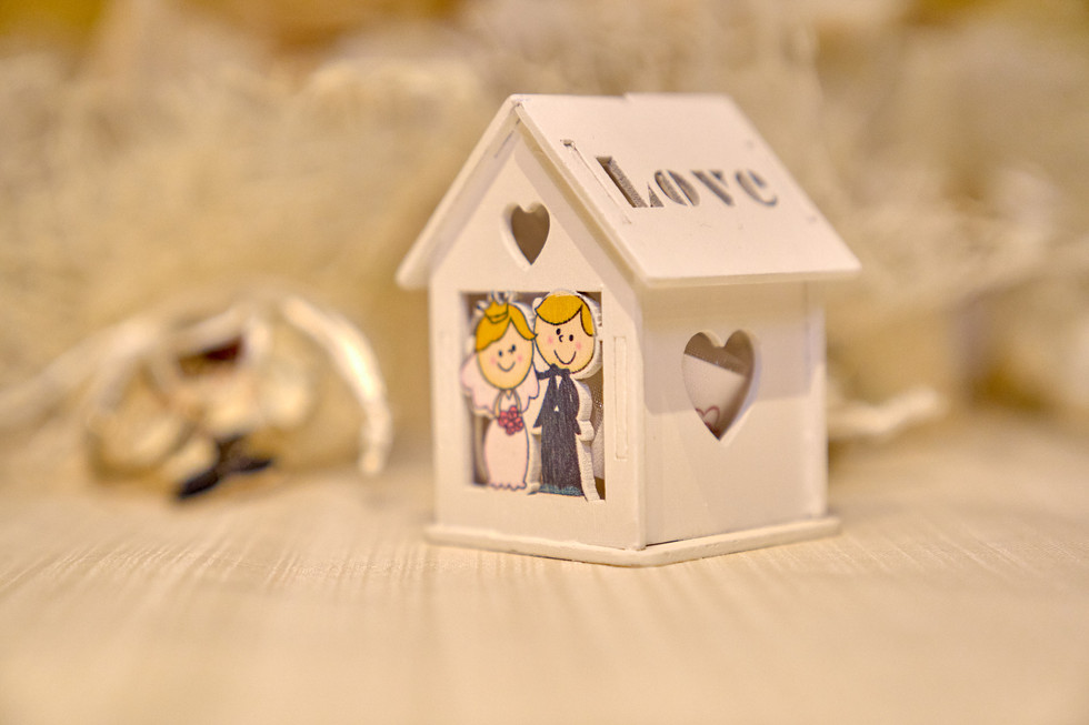 Dettaglio della bomboniera di matrimonio, fotografo matrimonio Novara,