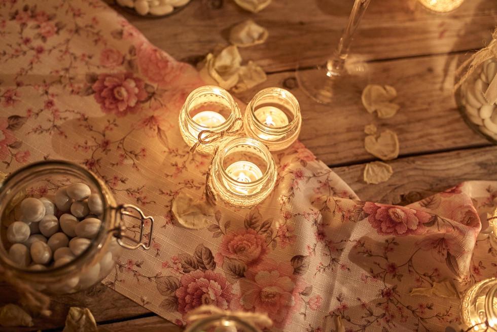 Bomboniere candele e confetti di matrimonio