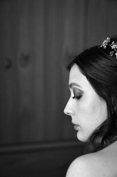profilo sposa, primo piano, bianco e nero, fotografo matrimonio Novara,