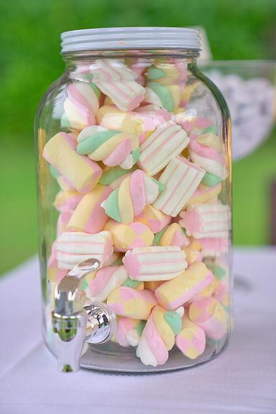 Vasetto di Marshmallow colorati, fotografo novara