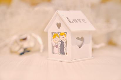 bomboniera di matrimonio, casetta di legno