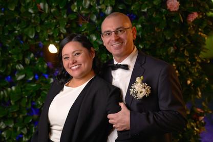 Sposi vicini sorridenti, mezzo busto, fotografo matrimonio Novara,