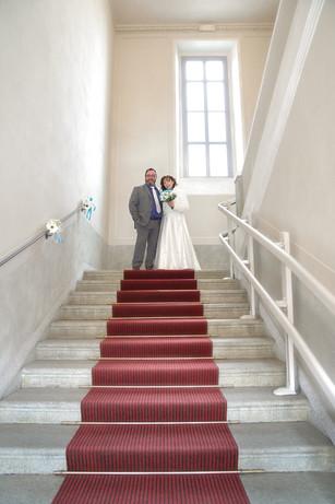 scalinata, sposi, fotografo matrimonio Novara,