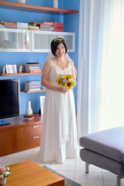 sposa figura interno soggiorno, fotografo matrimonio