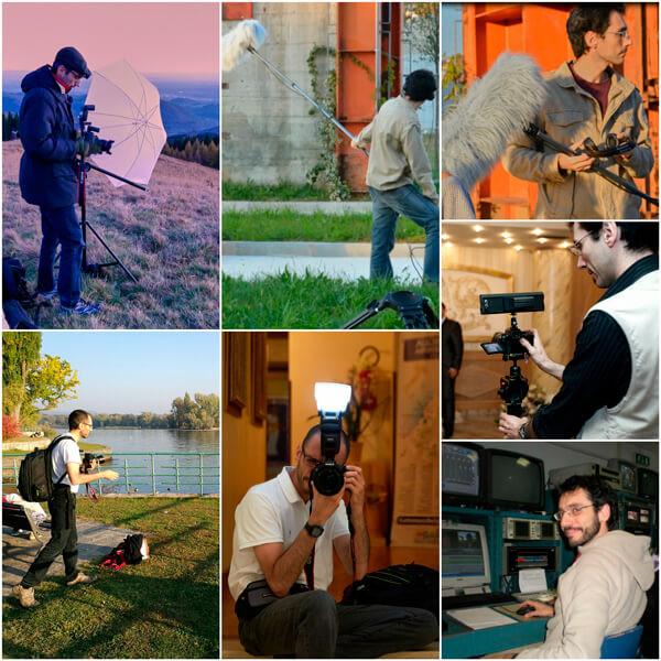 collage audio video fotografo di matrimonio
