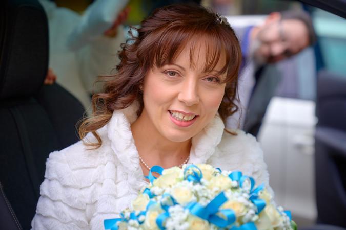 sposa sorridente, primo piano, fotografo matrimonio Novara,