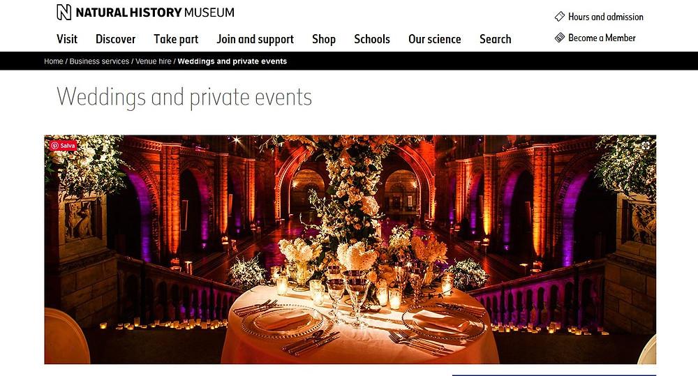 Fotografo matrimonio museo storia naturale londra ricevimento