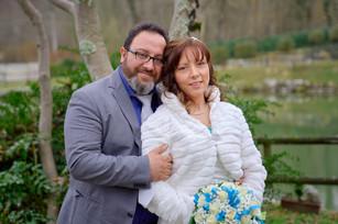 ritratto sposi sorridenti, fotografo matrimonio Novara,