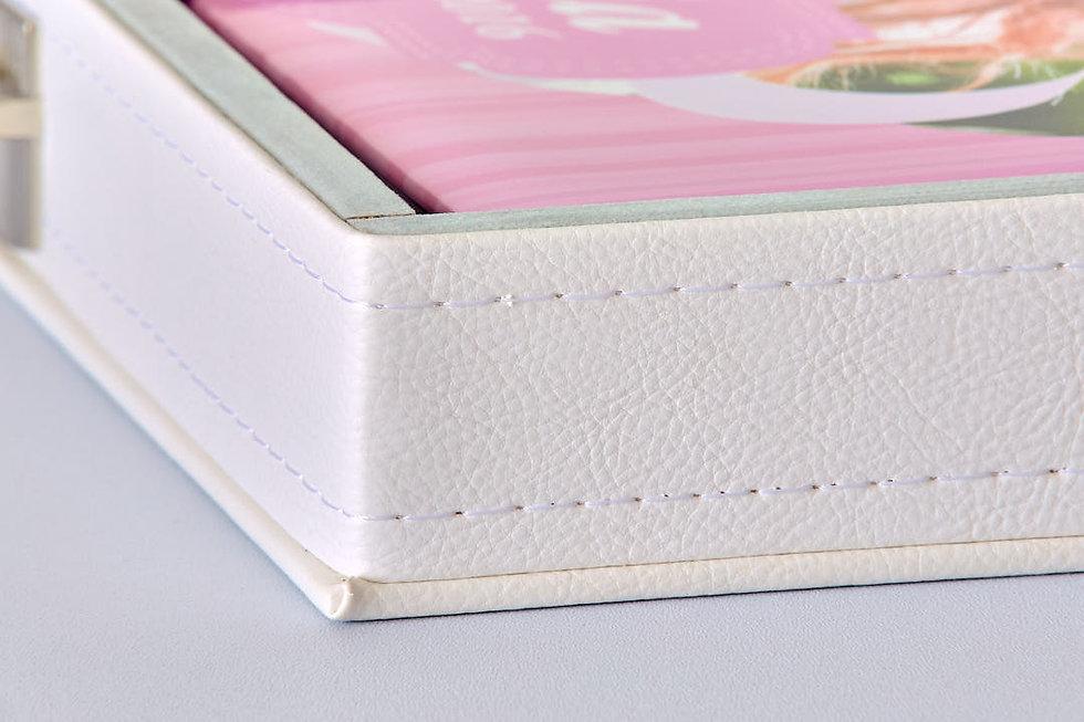 album fotolibro fotolibri  dettaglio cofanetto ecopelle