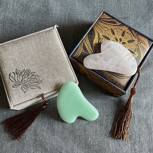 Gua Sha Scraping Massage Tool made by 100% natural stone