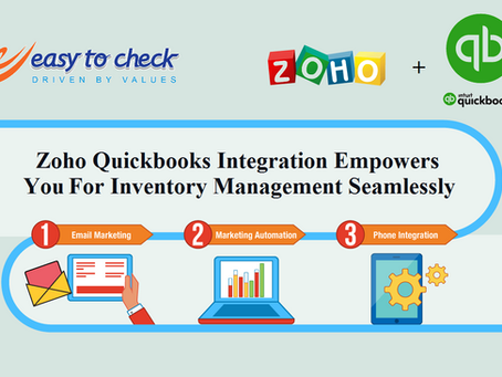 Zoho Quickbooks Integration empowers you for inventory management seamlessly