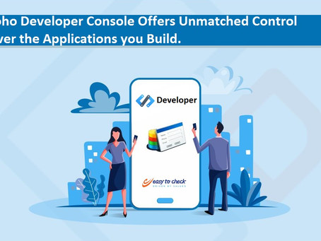 Zoho Developer: Deliver robust featured applications for different platforms with Zoho Developer