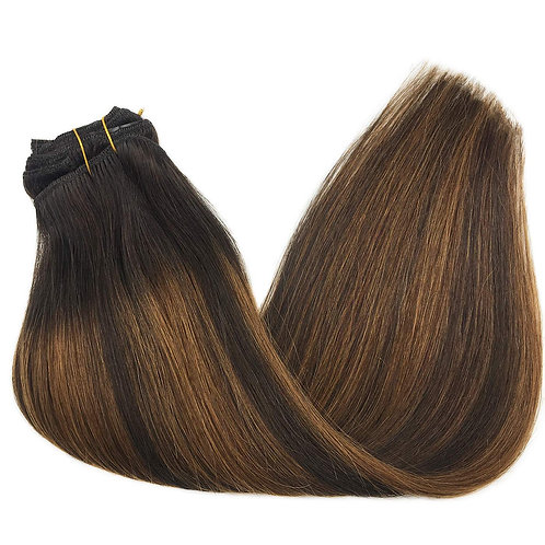 Clip-Ins Extensions ( Dark Brown Mixed Chestnut Brown )