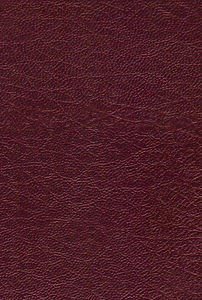 Image of a burgendy red leather material