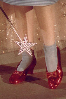 Image of Sparkly red slippers from the film the Wizard Of Oz