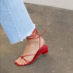 Zara Shoes _ Zara Red Strappy Heel Shoes