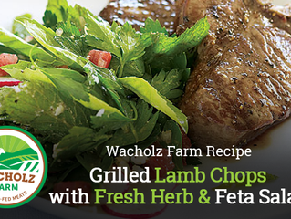 Grilled Lamb Chops with Fresh Herb & Feta Salad