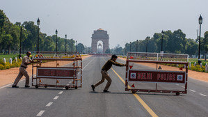 Law, Lockdown and Lathi-charge