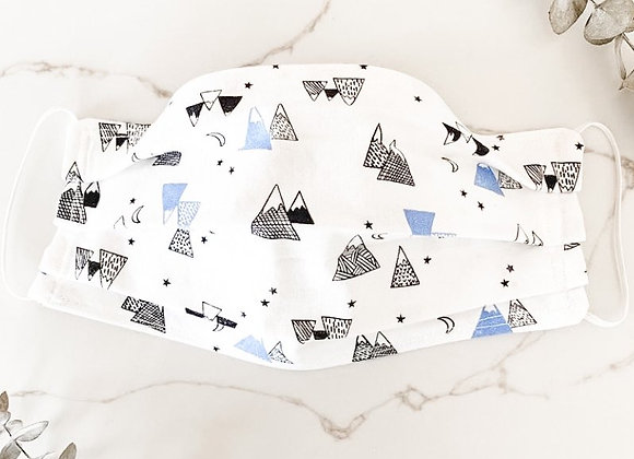 Adult or Kids Face Mask - Mountains