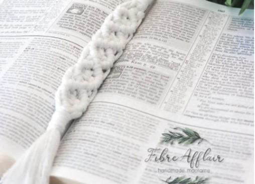 Handmade Macrame Bookmark