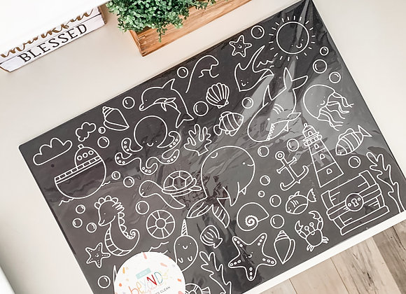LARGE Erasable Chalkboard Doodle Mat
