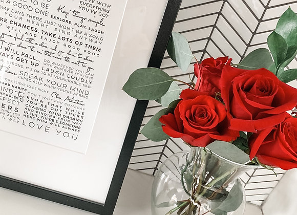 **PRE-ORDER** RED ROSES