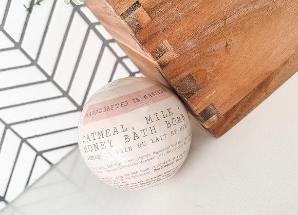 Oatmeal, Milk & Honey Bath Bomb