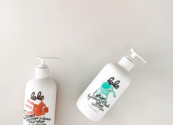 Olive Oil  Hair & Body Wash + Lotion