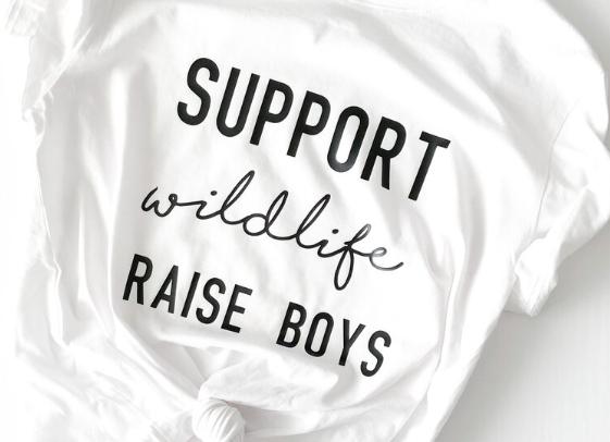 Support Wildlife, Raise Boys T-Shirt