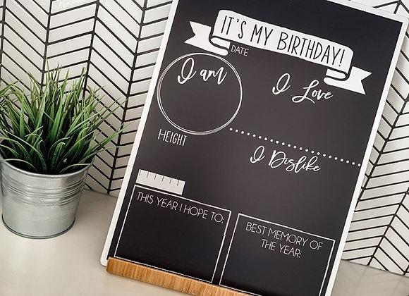 Reversibe Birthday Board