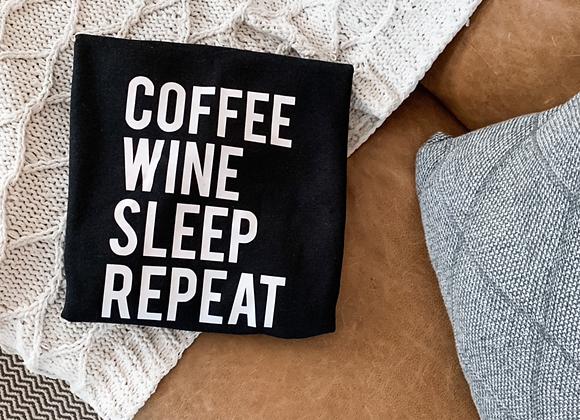Coffee on Repeat Crewneck Sweater
